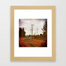 Waitin' for the train Framed Art Print