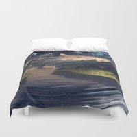 platypus Duvet Covers featuring Under the Miky Way by Roberto Nieto