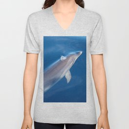 Dolphin and dreams Unisex V-Neck