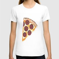 pizza T-shirts featuring Pizza by Sartoris ART