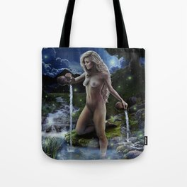 XVII. The Star Tarot Card Illustration (Color) Tote Bag