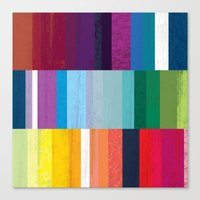 stripes Canvas Prints featuring Stripes by Kakel
