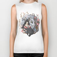 kitsune Biker Tanks featuring Kitsune by Julia Nguyen