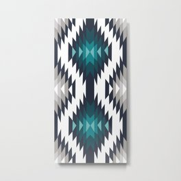 American Native Pattern No. 415 Metal Print