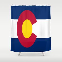 flag colorado,america,usa,south,desert, The Centennial State,Coloradan,Coloradoan,Denver,Springs Shower Curtain