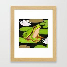 Lilypads Bullfrog Framed Art Print