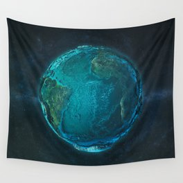 Globe: Relief Atlantic Wall Tapestry