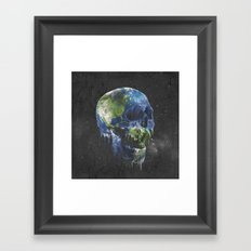 mothers dying Framed Art Print