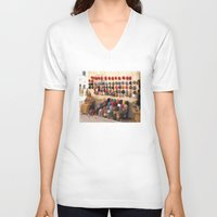 morocco V-neck T-shirts featuring Crochet, Morocco by Mr and Mrs Quirynen