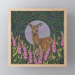 Celtic Deer Framed Mini Art Print