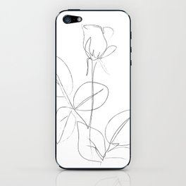 Minimal Line Drawing 4 iPhone Skin