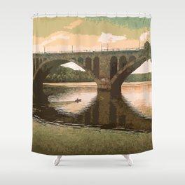 Georgetown Bridge Washington DC USA Shower Curtain