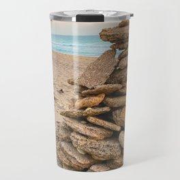 Beach Rock Pile Travel Mug