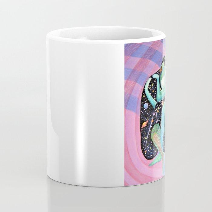 Space Earth Love Painting Nature Soul Mates Couple Wedding Art Tapestry (Infinite Love) Coffee Mug
