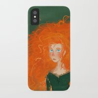 pixar iPhone & iPod Cases featuring Merida from Brave (Pixar - Disney) by Delucienne Maekerr