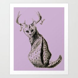 Kitty... deer...? Art Print
