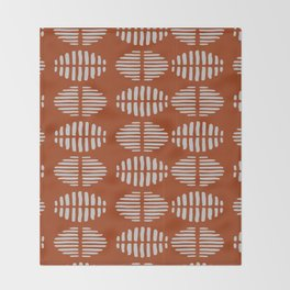 Burnt Sienna Pattern Design Throw Blanket