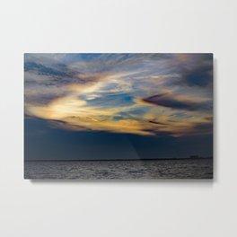 Beauty Above The Shoreline Metal Print