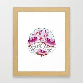 Lesbian Pride Flowers Framed Art Print