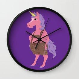 Unicorn In My Lederhosen Wall Clock