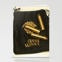 versace Stationery Cards featuring Versace Bullets Colt by Premium