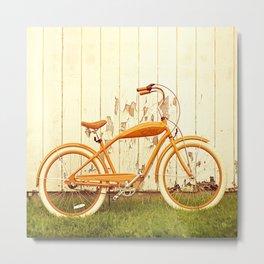 Orange Ride Metal Print