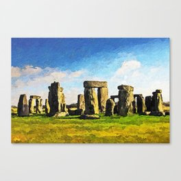 Stonehenge - Acrylic & Palette Knife Paint on Canvas Canvas Print