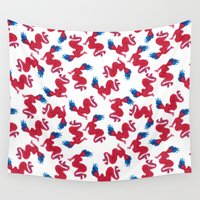mermaids Wall Tapestries featuring Mermaids by Koni