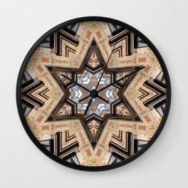 Architectural Star of David Wall Clock