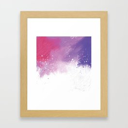 Paint Brushing Framed Art Print