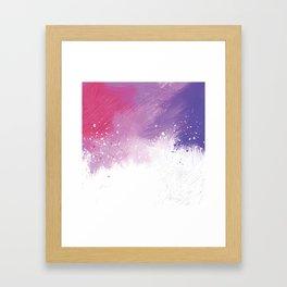 Paint Brushing Framed Art Print