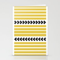 striped Stationery Cards featuring Striped by Mariana Nabas