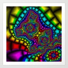 Colour Adour Art Print