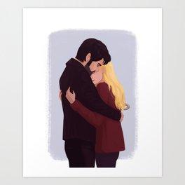 Captain Swan Hug Art Print