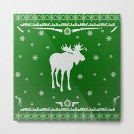 Supernatural Sam Holiday Sweater Metal Print