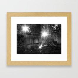 Backyard Ghosts Framed Art Print