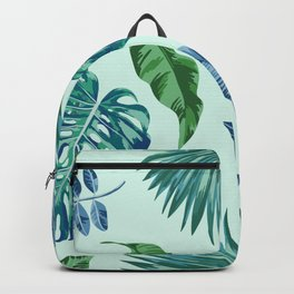Palm Trees & Leaves Pattern Backpack