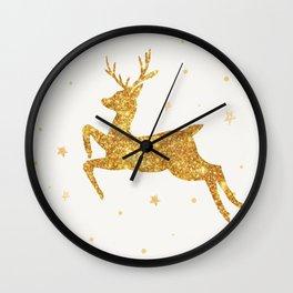 Golden Deer Wall Clock