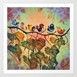 Spring Peeps Art Print