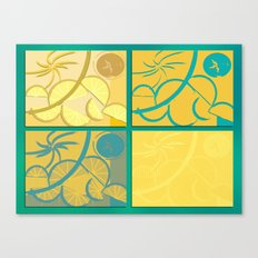 Lemon Sun and Moon Canvas Print