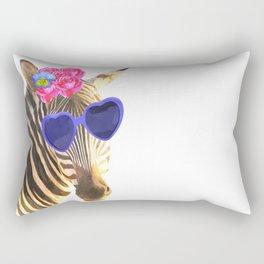Zebra funny animal illustration Rectangular Pillow