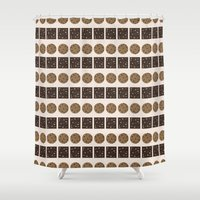 cookie monster Shower Curtains featuring Cookie Monster (cream) by Sidrah  Mahmood