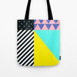 Memphis pattern 90 Tote Bag