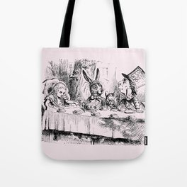 Blush pink - mad hatter's tea party Tote Bag