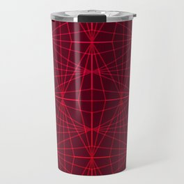 ELEGANT DARK RED GRAPHIC DESIGN Travel Mug