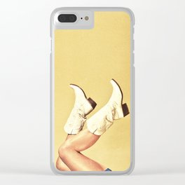 These Boots - Yellow Clear iPhone Case