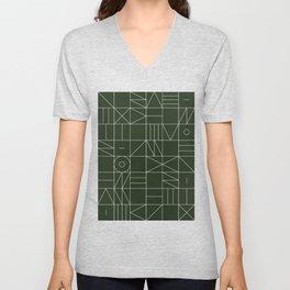 My Favorite Geometric Patterns No.6 - Deep Green Unisex V-Neck