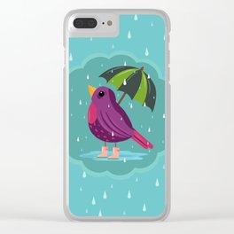 Rainy Days Are Still Good Days Clear iPhone Case