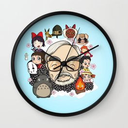Ghibli, Hayao Miyazaki and friends Wall Clock