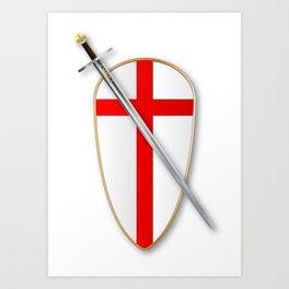 Crusaders Shield and Sword Art Print